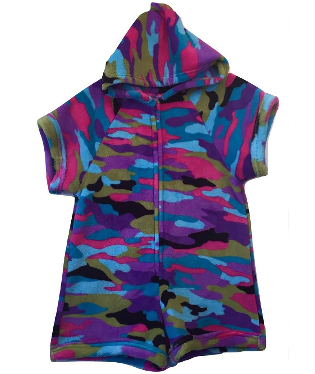 Made with Love and Kisses Girls Funky Camo Romper