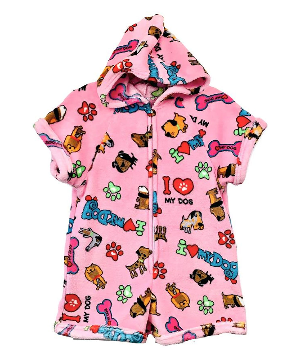 Made with Love and Kisses I Love Dogs Romper