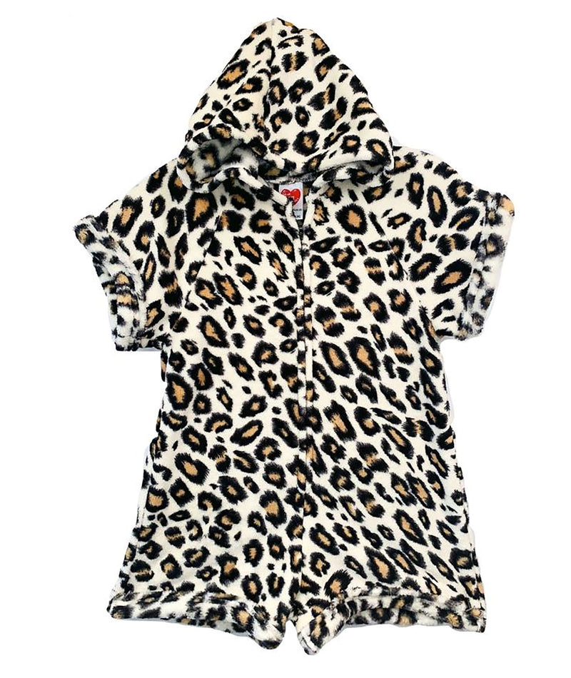 Made with Love and Kisses Girls Leopard Romper