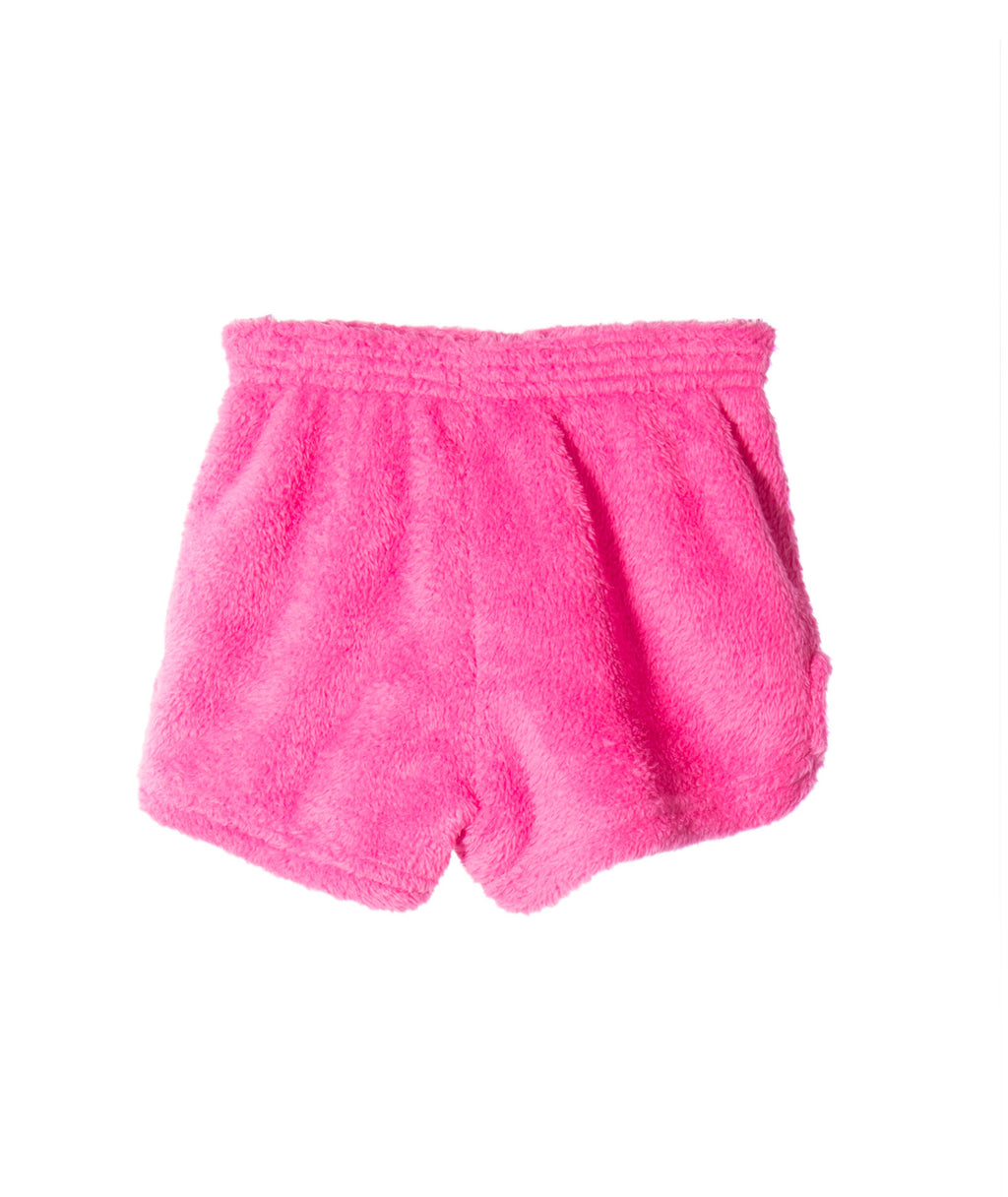 Made with Love and Kisses Girls Pink Blue Heart Shorts