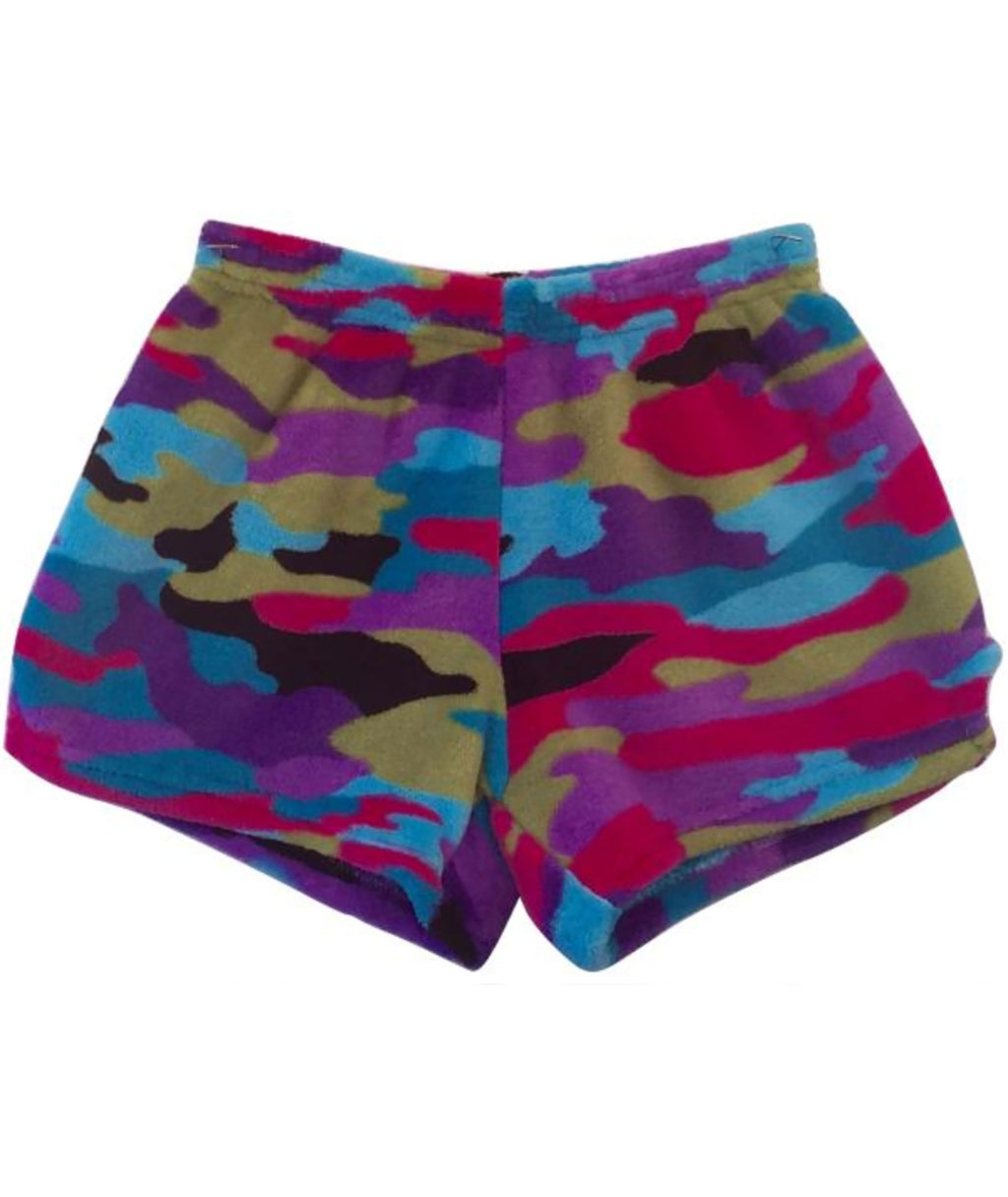 Made with Love and Kisses Girls Funky Camo Shorts