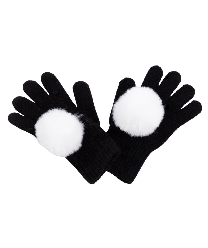 Maniere Girls Black and White Gloves
