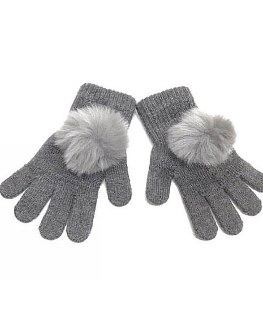 Maniere Girls Grey Gloves