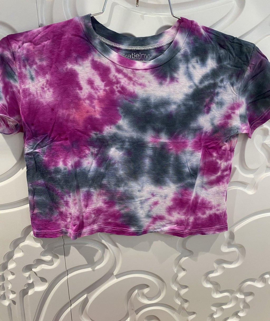 Katie J NYC Girls Fearless Variety Tie-Dye Crop Tee
