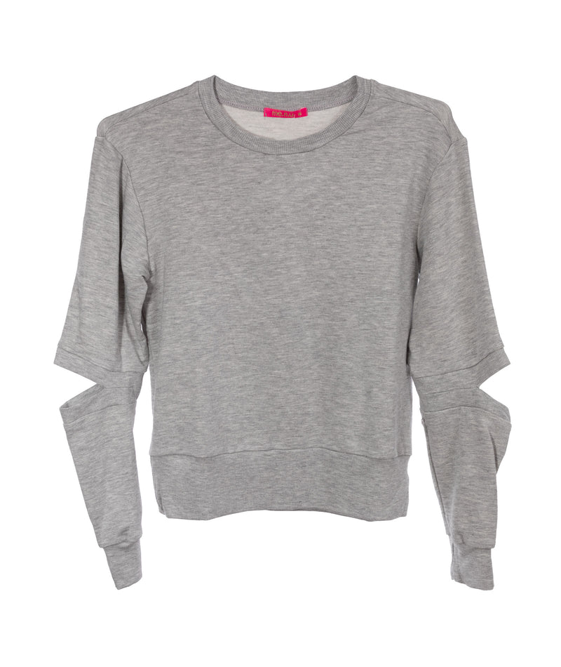 Me.n.u. Girls Grey Elbow Sweatshirt