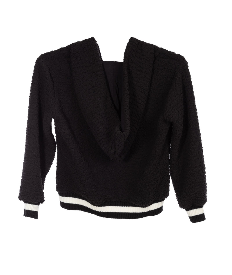 Me.n.u. Girls Black Sherpa Pullover