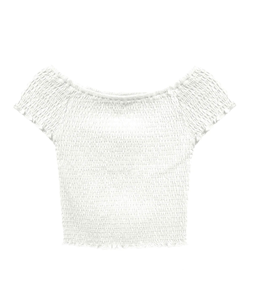 Me.n.u. Girls White Smock Top