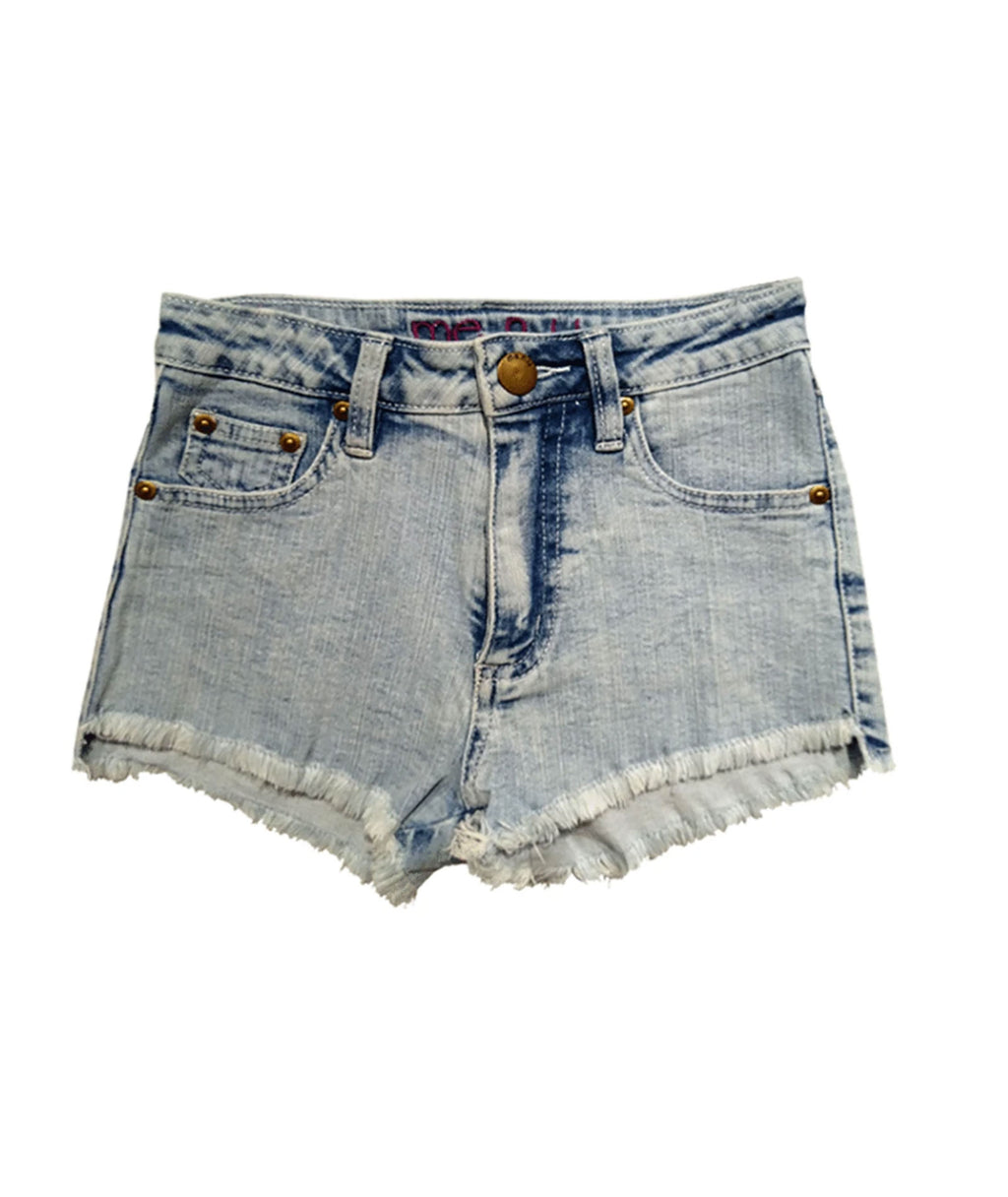 Me.n.u. Girls High-Waisted Denim Shorts