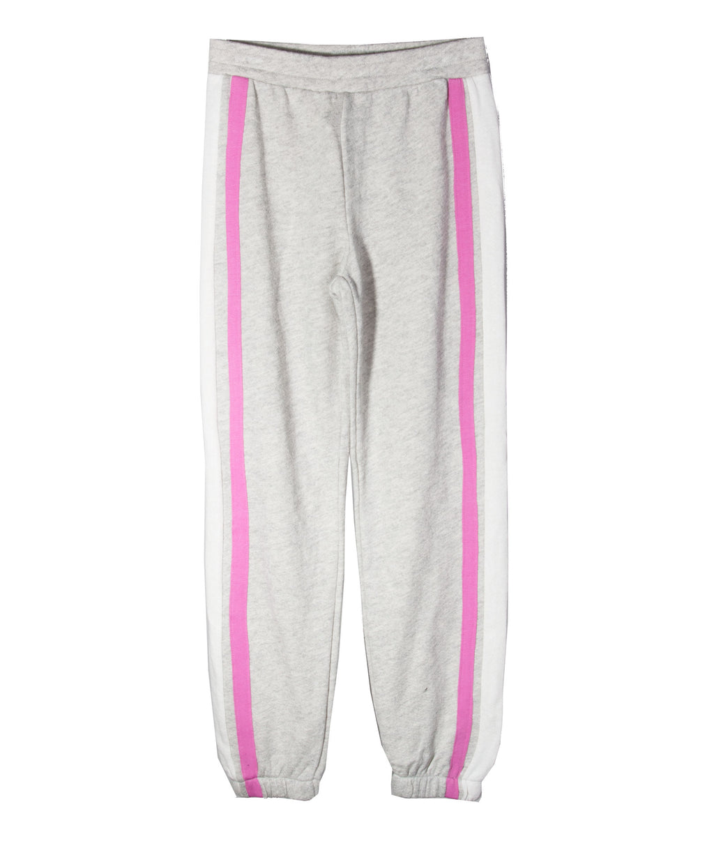 Me.n.u. Girls Heather Grey Stripe Sweatpants