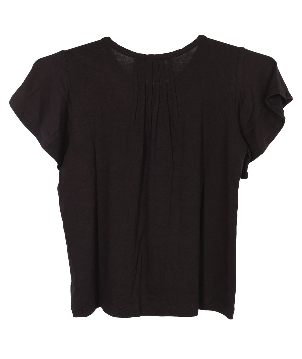 Me.n.u. Girls Black Pintuck Tee