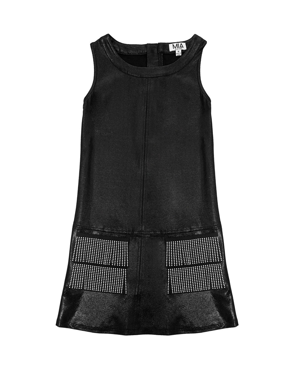 MIA Girls Stud Fringe Dress