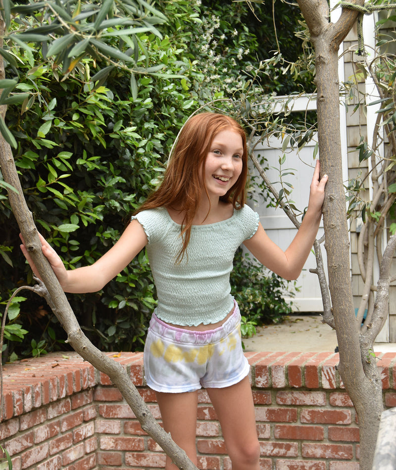 Vintage Havana Girls Unicorn Tie-Dye Shorts