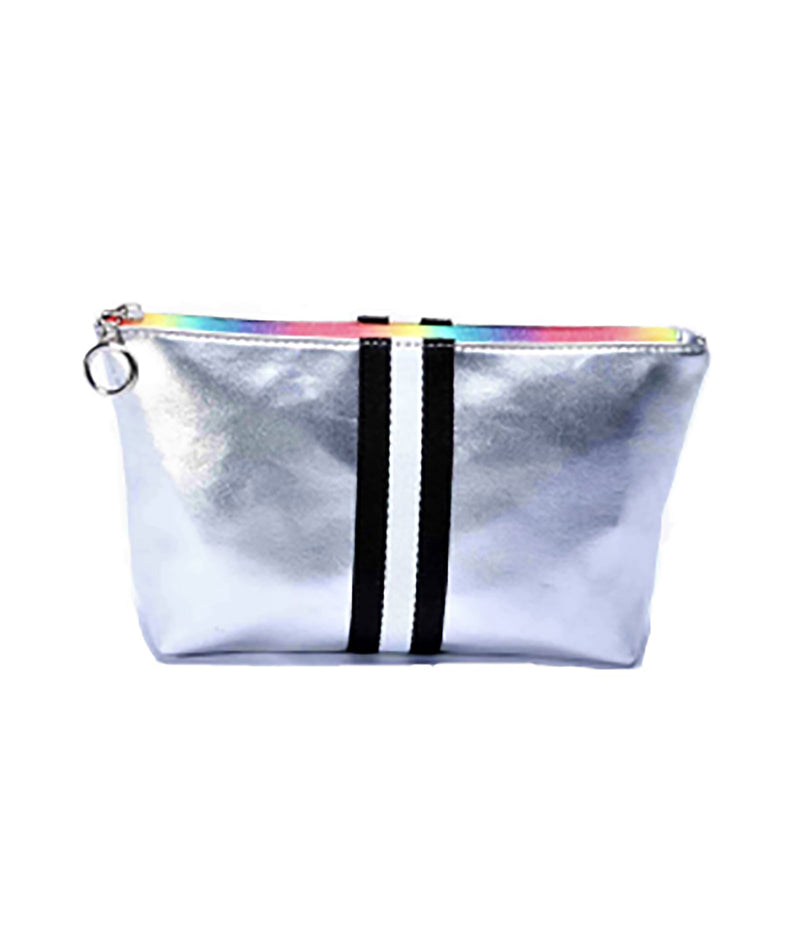 State Bags Rodger Silver Metallic Pencil Case