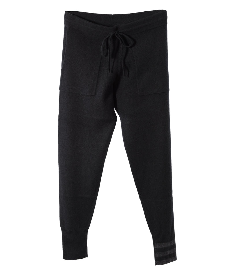 Naadam Women Black Stripe Joggers