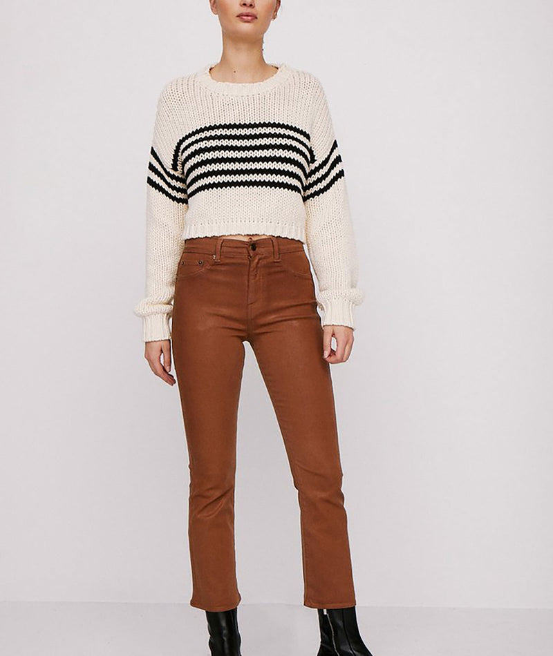 Pistola Women Cream Black Stripe Sweater