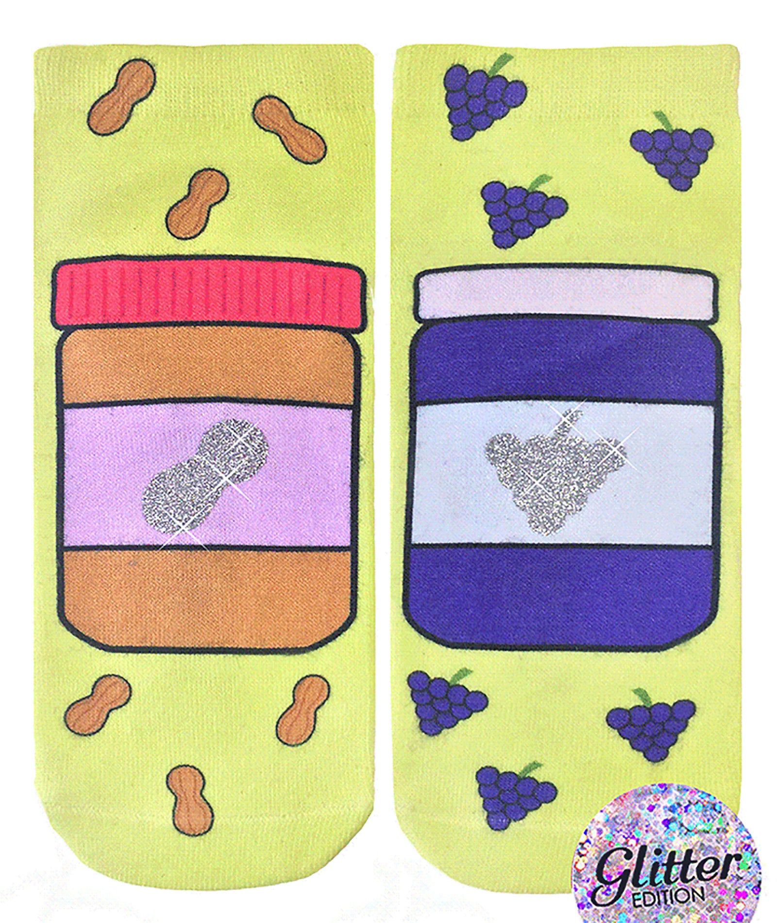 Living Royal PB & J Glitter Socks