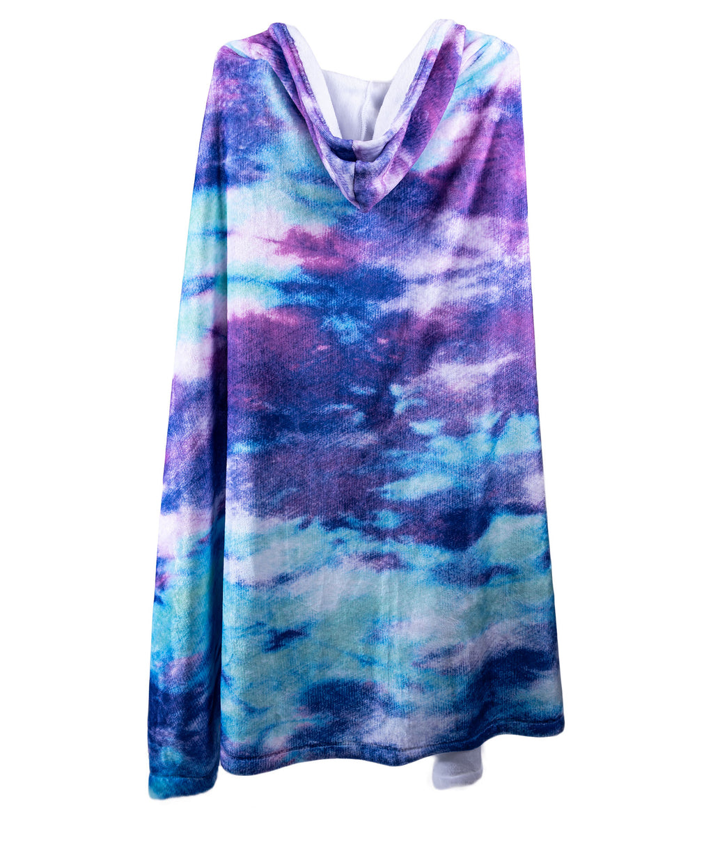 Penelope Wildberry Bleach Tie-Dye Hood Blanket