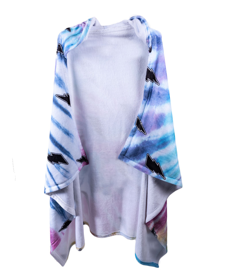 Penelope Wildberry Bolt Tie-Dye Hood Blanket
