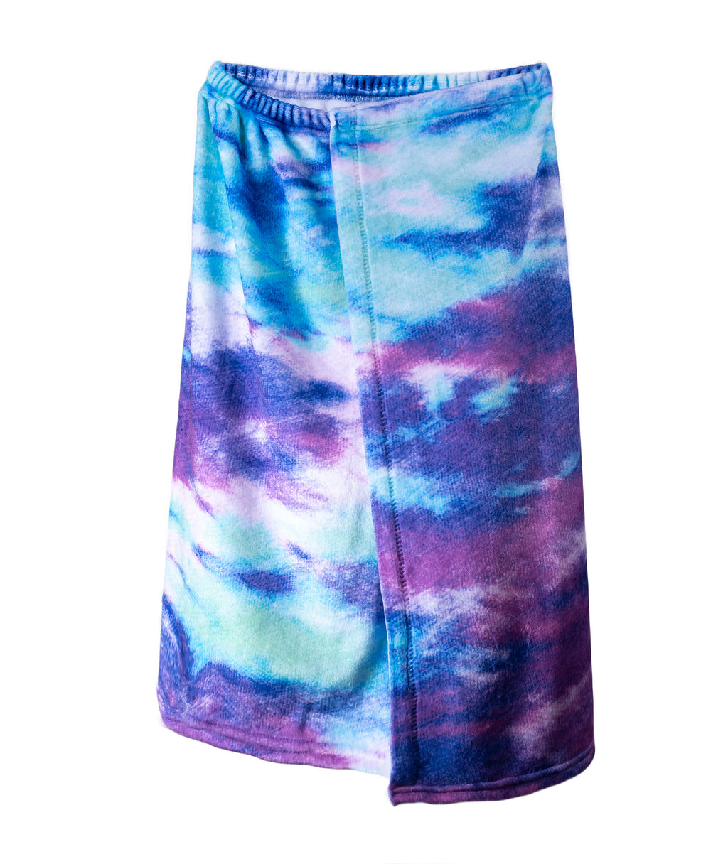 Penelope Wildberry Bleach Tie-Dye Spa Wrap