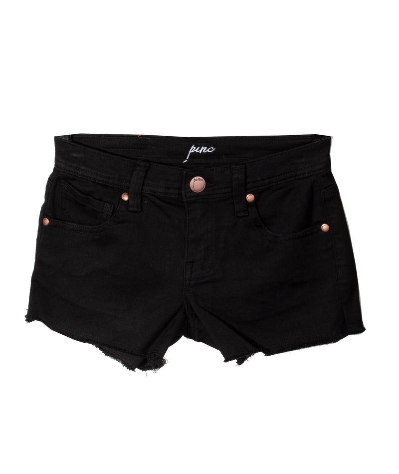 T2 Love Girls Velvet Black Shorts