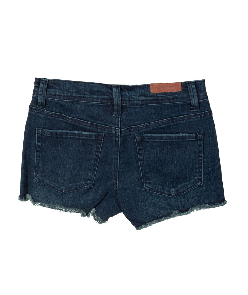 Pinc Denim Short Fray Hem Dark Wash