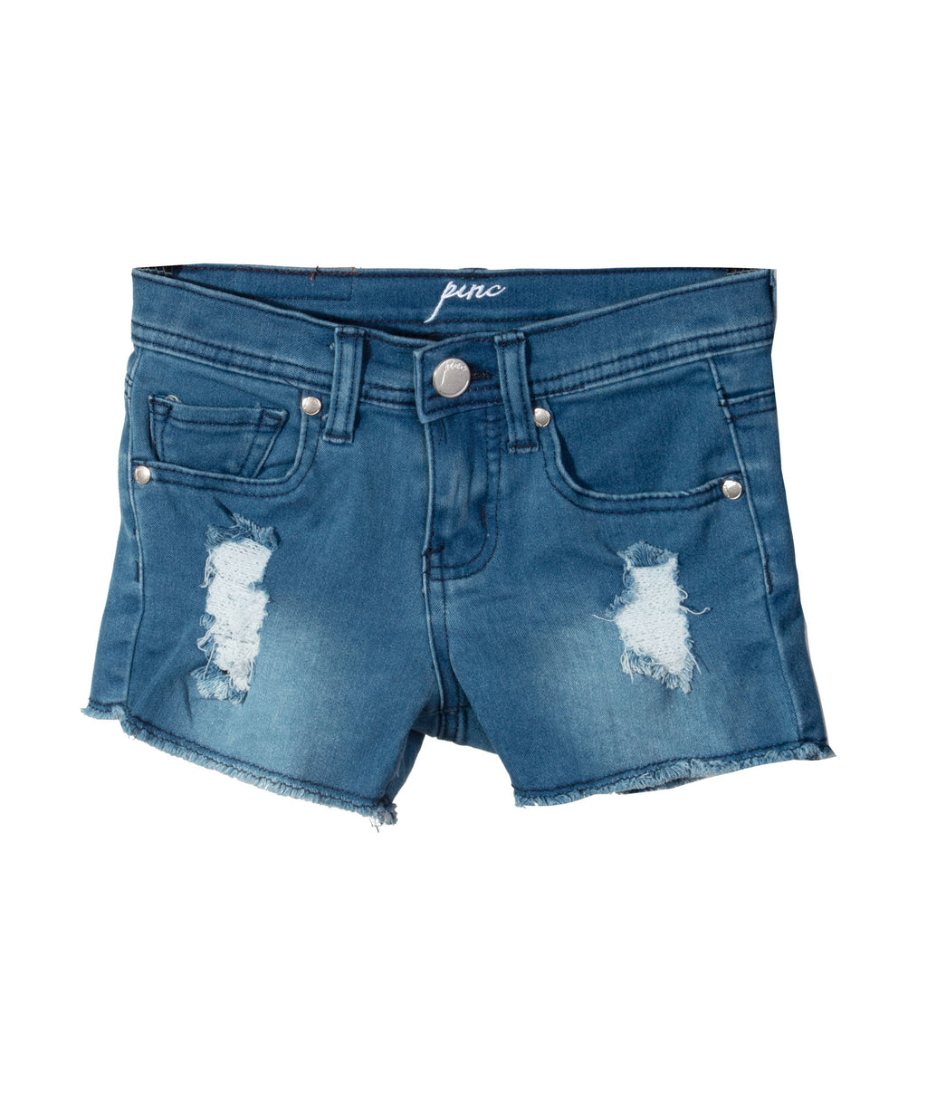 Pinc Premium Denim Shorts Rips Med Wash