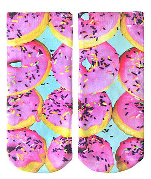 Living Royal Pink Donut Socks