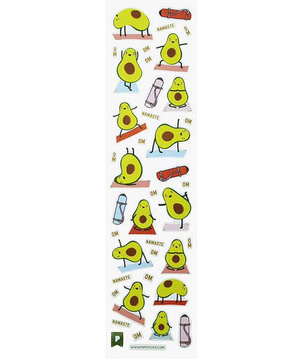 Pipsticks Avocado Sticker Sheet