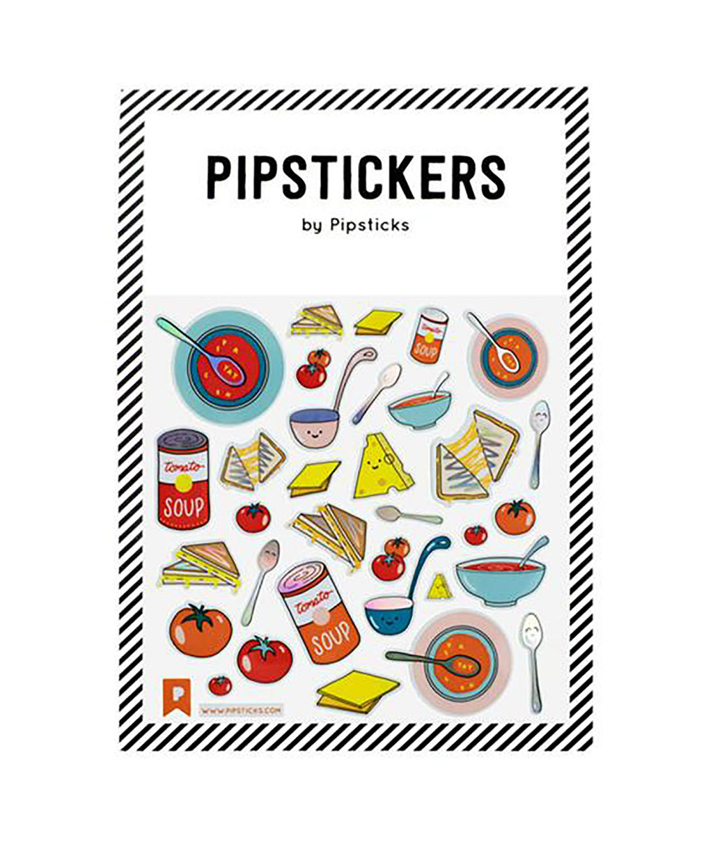 Pipsticks Soup and Grilled Cheese Sticker Sheet