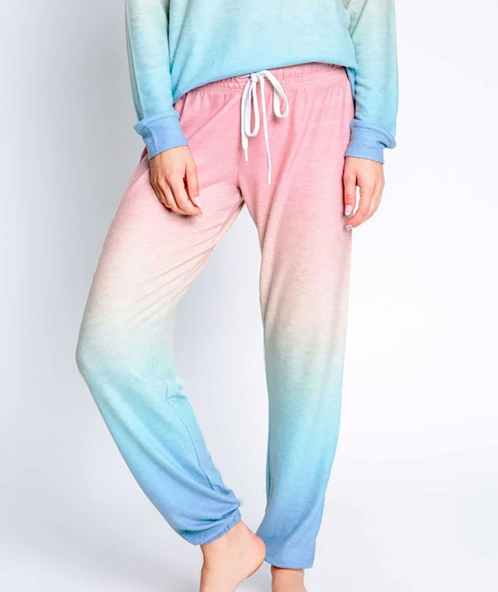 P.J. Salvage Women Beach Band Multi-Tie-Dye Lounge Pants