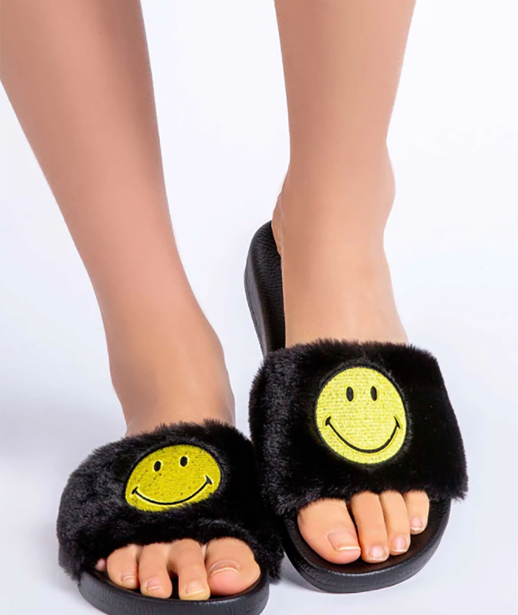 P.J. Salvage Women Smiley Slippers