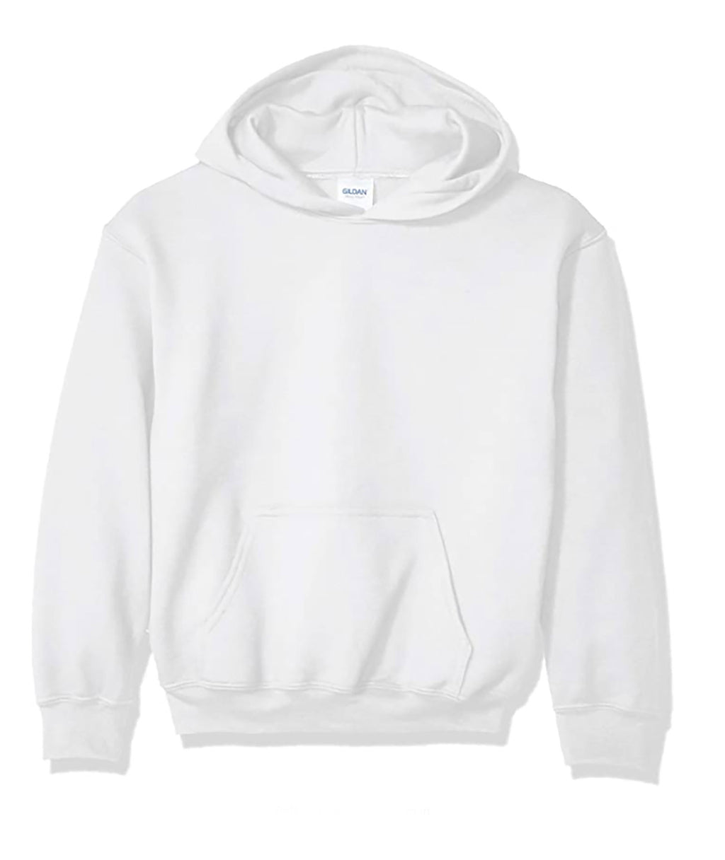 Gildan Adult Pullover Hoodie in White, Grey or Light Grey