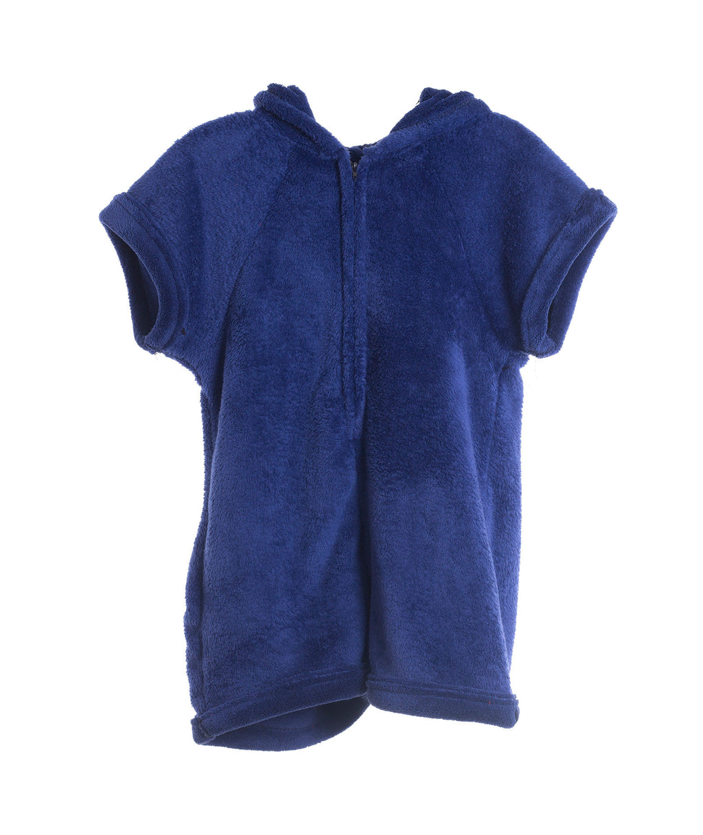 Made with Love and Kisses Girls Navy Plush Romper - Frankie's on the Park