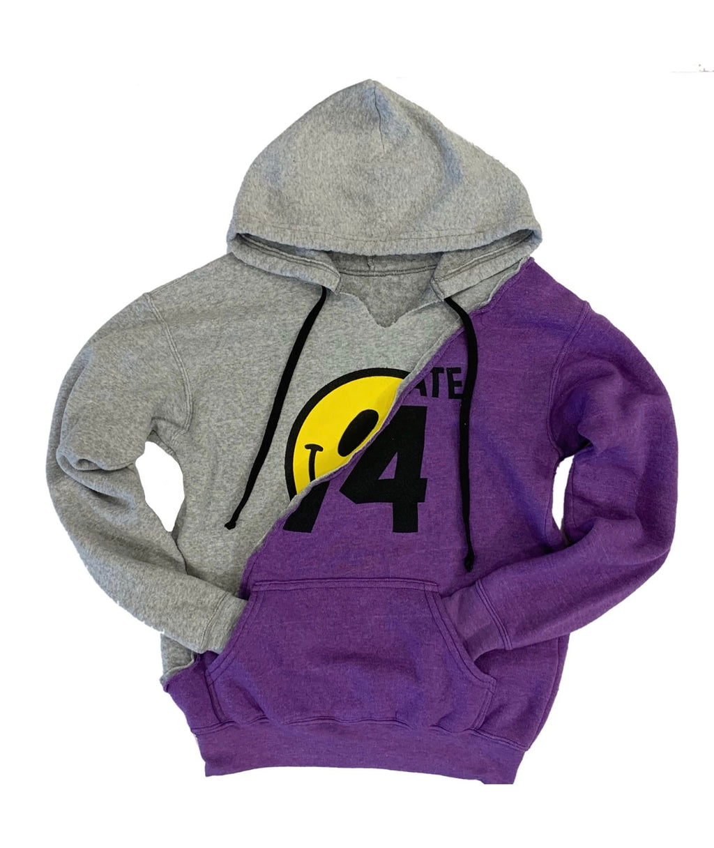 Love Junkie Girls Supersoft Mixed Hoodie Purple
