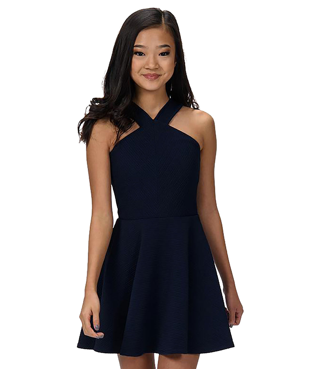 Sally Miller Girls Navy Kennedy Dress - Frankie's on the Park
