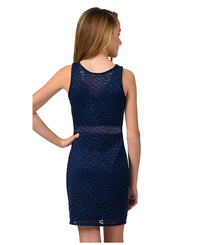 Sally Miller Girls Navy Lace Bodycon Dress - Frankie's on the Park