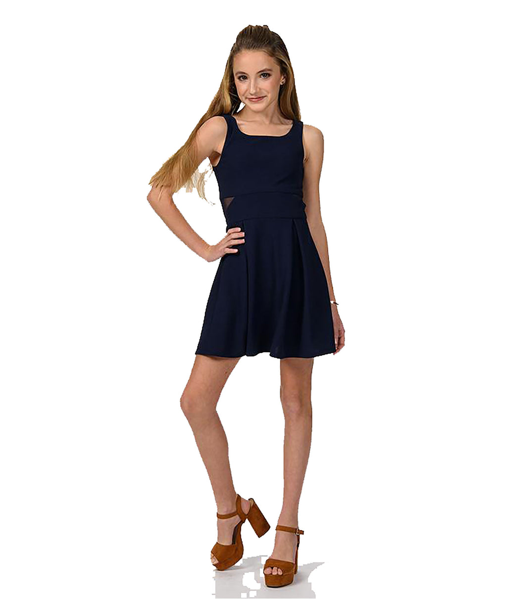 Sally Miller Girls Hope Navy Dress