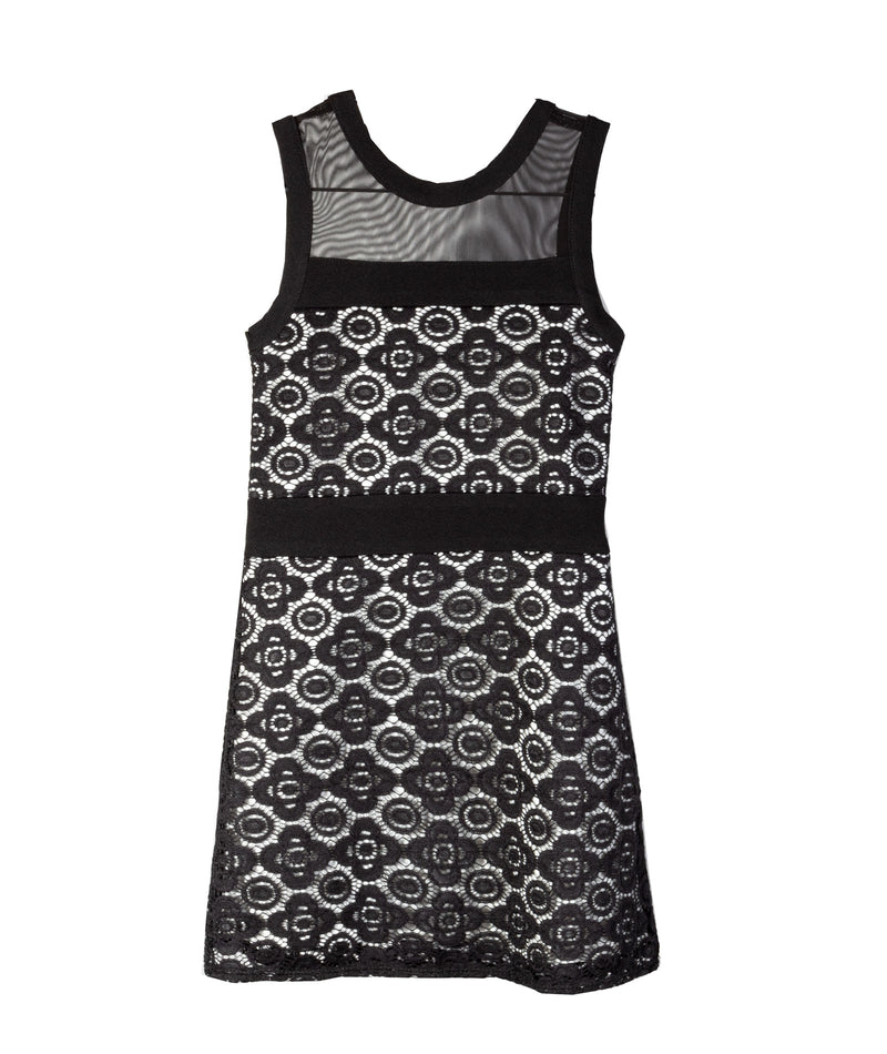 Sally Miller Girls Liz Black & Ivory Dress