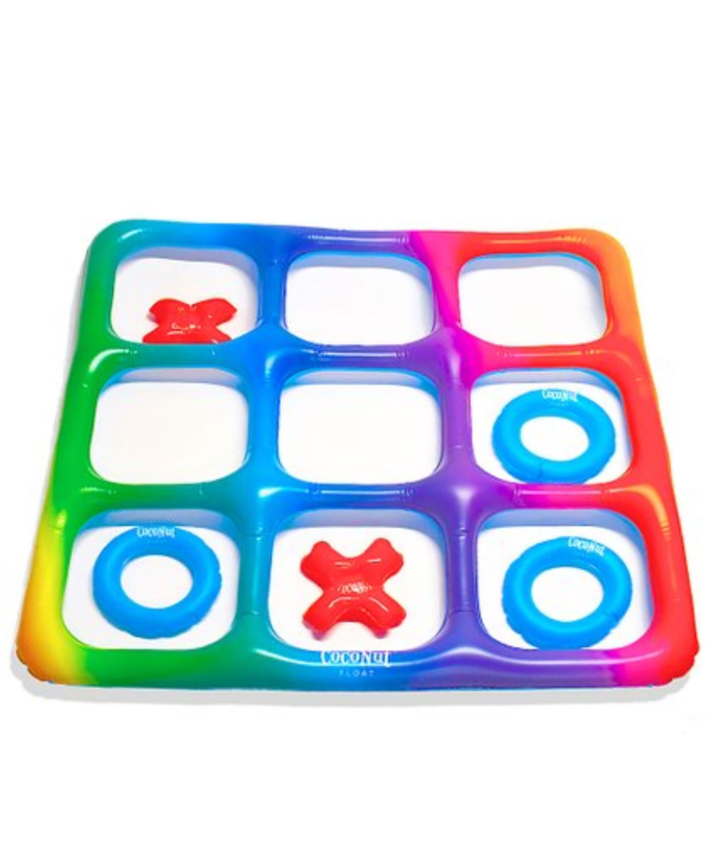 Rainbow Tic-Tac-Toe Inflatable Pool Game