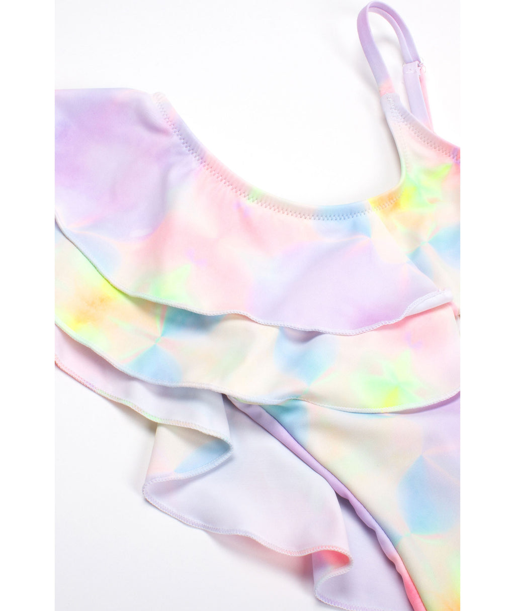 Shade Critters Girls Tie-Dye Ruffle One Piece