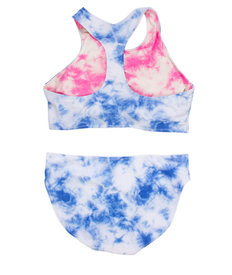 Shade Critters Girls Blue Tie Dye Reversible Two Piece