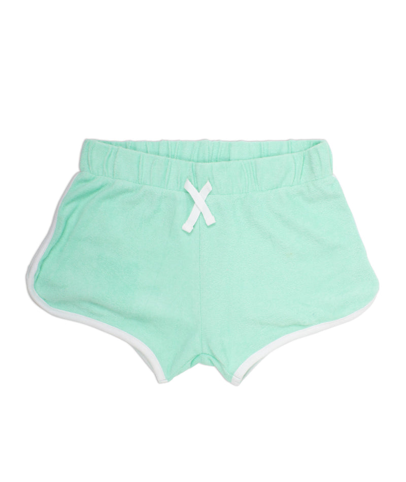 Shade Critters Girls Mint Terry Shorts