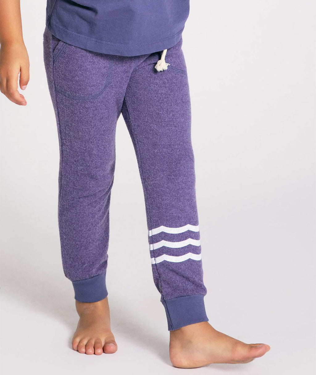 Sol Angeles Girls Grape Wave Joggers