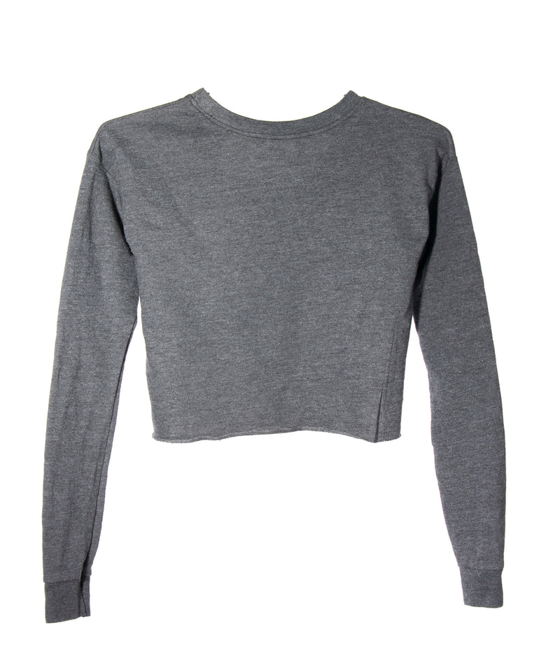 So Nikki Girls French Terry Crop Sweatshirt