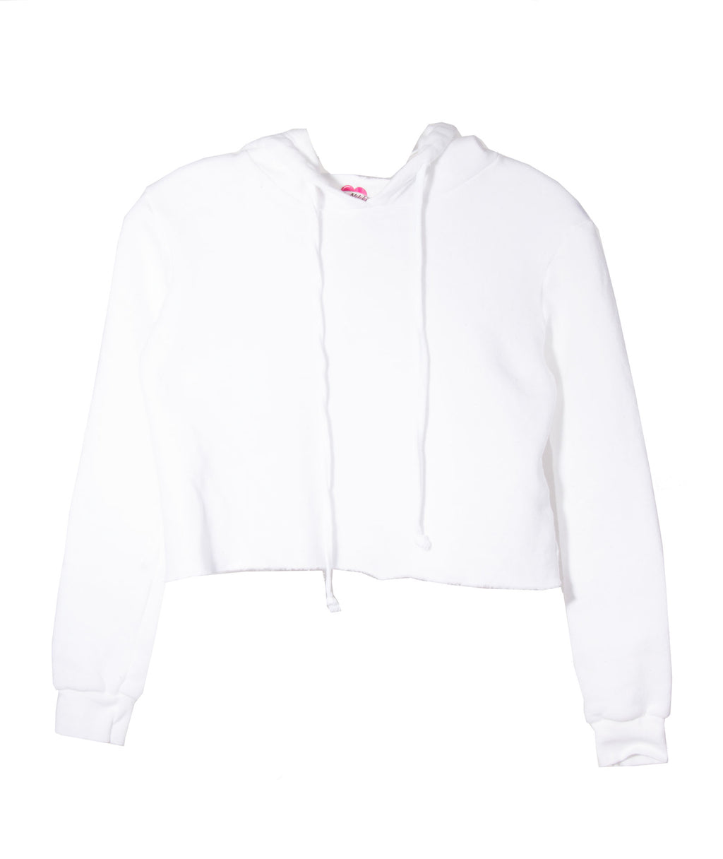 So Nikki Girls Fleece Crop Hoodie
