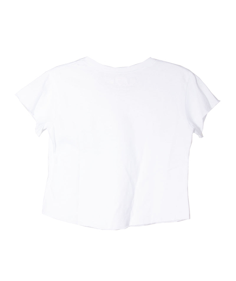 So Nikki Girls Boxy Crop Tee in White or Black