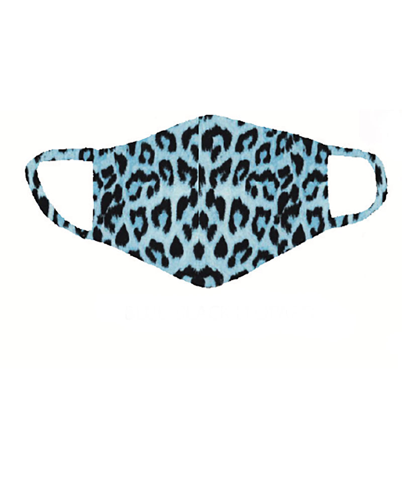 Sparkle by Stoopher Black and Blue Leopard Mask