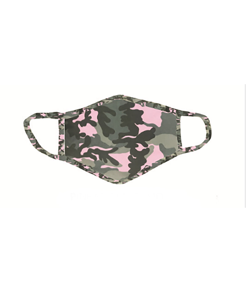 Sparkle by Stoopher Pink and Green Camo Mask - IN-STOCK