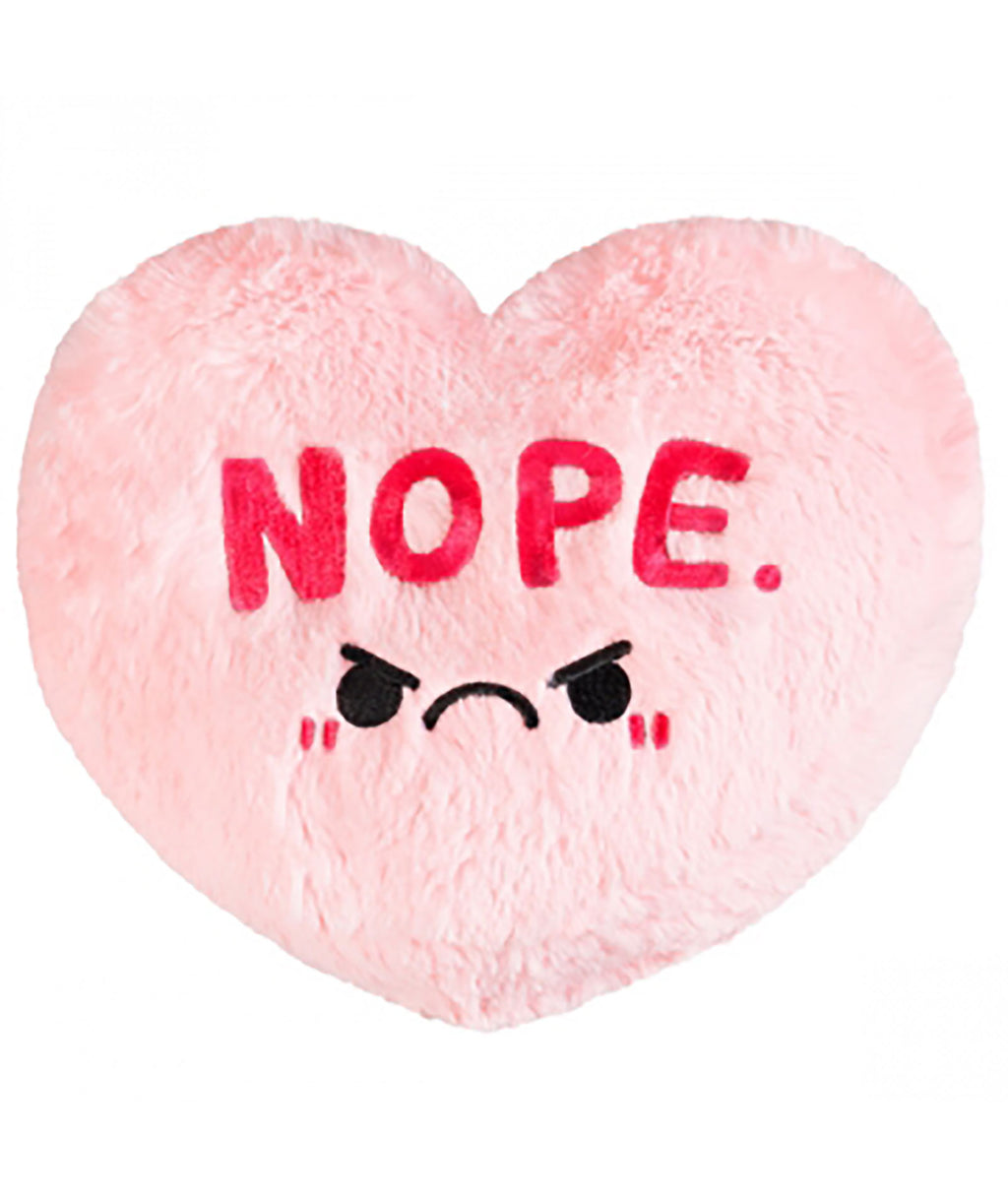 Squishable Pink Candy Heart NOPE Pillow