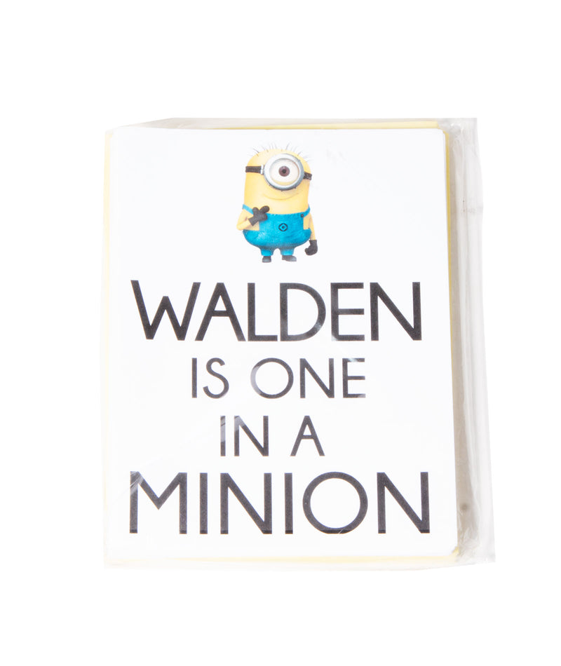 Staci-Nary Pack of 10 Cards Camp Name Minion